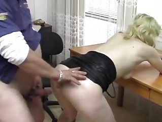 German golden-haired banged on the desk - Acheron