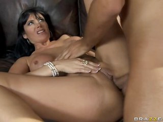 Brunette Anal MILF Eva Karera Gives Titty Fuck and Receives Banged