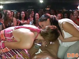 Bachlorette party turns into cocksucking