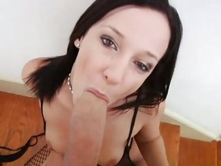 Jada Stevens juices up a cock with her hot mouth