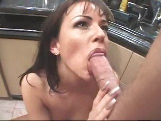 Anal sex with this bitch in her kitchen