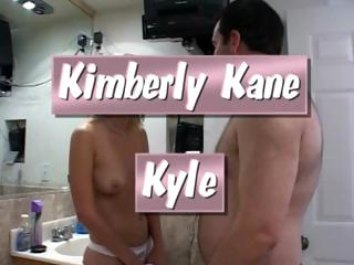 Blonde cutie, Kimberly Kane, stuffs Kyle's fat cock in her throat and snatch
